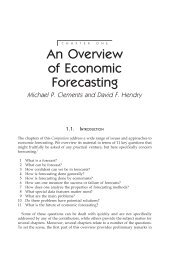 An Overview of Economic Forecasting - CiteSeerX