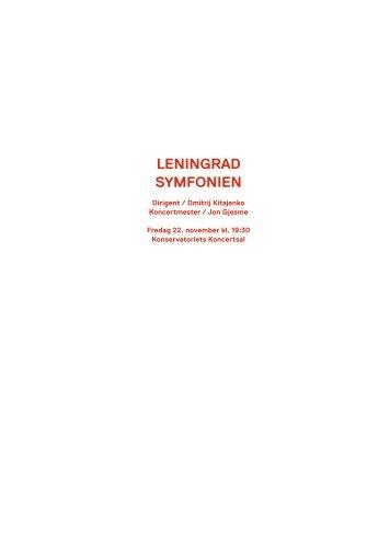 Leningrad Symfonien / 22. november 2013 - Copenhagen Phil