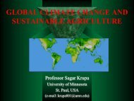 GLOBAL CLIMATE CHANGE AND SUSTAINABLE AGRICULTURE