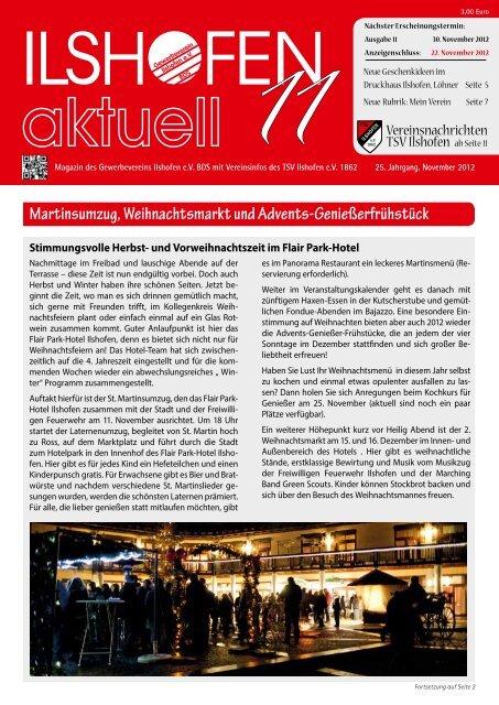 Ausgabe 11/2012 - Gewerbeverein Ilshofen eV / Startseite