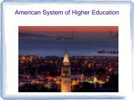 American System of Higher Education