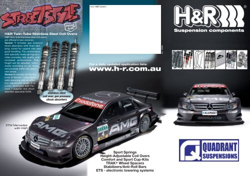 Produktflyer 2009 Aus Quadrant Automotive Suspensions