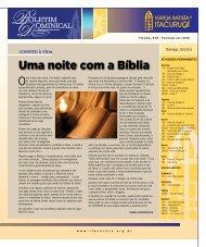 Uma noite com a Bíblia - Igreja Batista Itacuruçá