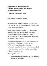 Statement von Klaus-Peter Siegloch Präsident ... - BDL