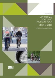 Victorian Cycling Action Plan 2013 & 2014 - Department of Transport