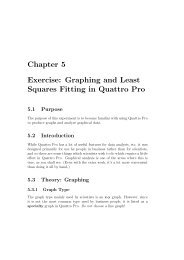 Chapter 5 Exercise: Graphing and Least Squares Fitting in Quattro Pro