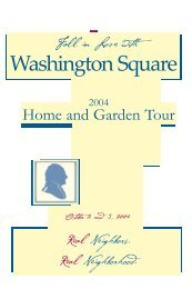 2004 home tour booklet - Washington Square Neighborhood ...