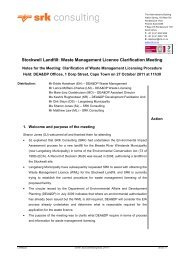 Stockwell Landfill: Waste Management Licence ... - SRK Consulting