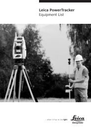 Leica PowerTracker Equipment List - Northern Survey Supply