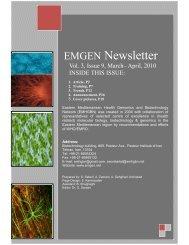 EMGEN Newsletter - Eastern Mediterranean Health Genomics and ...