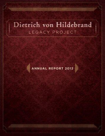 The Forgotten Voice of Dietrich von Hildebrand