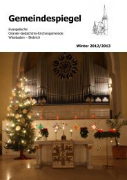 Winter 2012/2013 - Oranier-Gedächtnis-KIRCHE