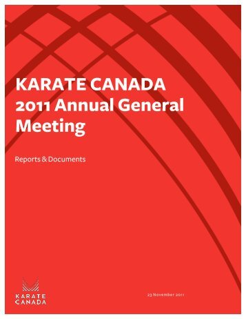 KARATE CANADA 2011 Annual General Meeting
