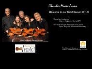 Slide Show - Chamber Music Amici