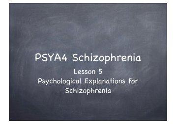 L5 psyc explanation schiz 2013 - The Grange School Blogs
