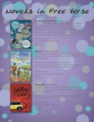 Novels in Free Verse and Books by Helaine Becker Flyer (2 mb)