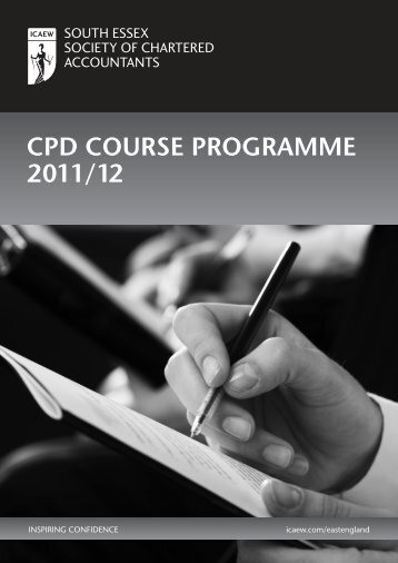 CPD Course Programme 2011/12 - ICAEW