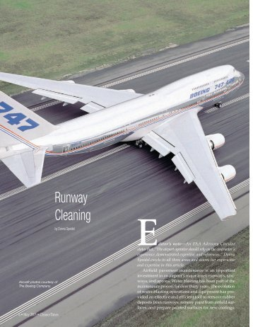 Runway Cleaning (May, 2005) - Cleaner Times