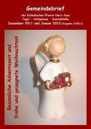 Gemeindebrief 12/2011-01/2012 - Katholische Kirchengemeinde ...