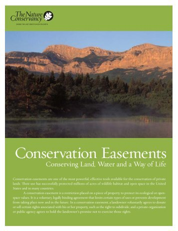 Conservation Easements - The Nature Conservancy