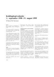 Koldingbegivenheder 1. september 1998 - Kolding Kommune