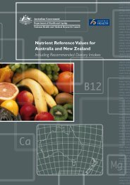 Nutrient Reference Values for Australia and New Zealand Including ...