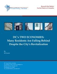 DC's TWO ECONOMIES - DC Fiscal Policy Institute