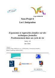 Sous-Projet 6 Lot 1 Intégration Ergonomie et Approches ... - IIHM
