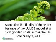 Assessing the fidelity of the water balance of the JULES model at a ...