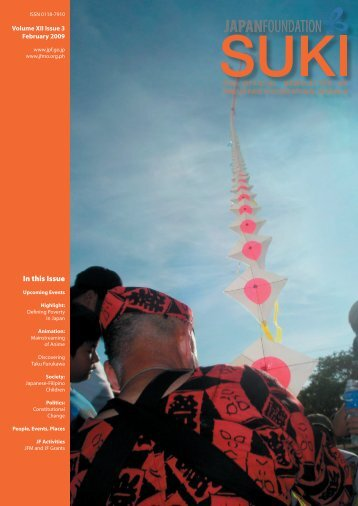 In this Issue - The Japan Foundation, Manila