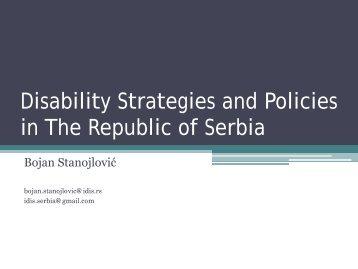 Bojan Stanojlovic - national situation in Serbia