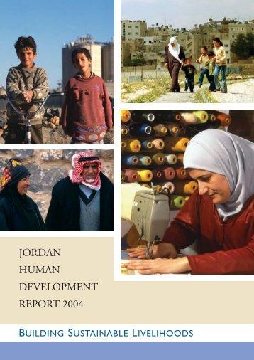 JORDAN HUMAN DEVELOPMENT REPORT 2004 - Arab Human ...