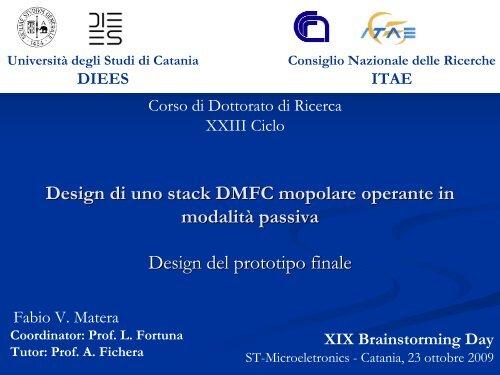 Matera Fabio - Phd.dees.unict.it - Università degli Studi di Catania