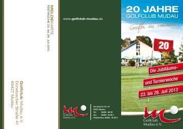 Golfen bei Freunden! - Golfclub Mudau eV