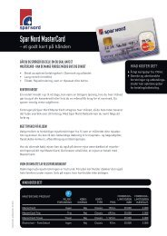 Spar Nord MasterCard (pdf)
