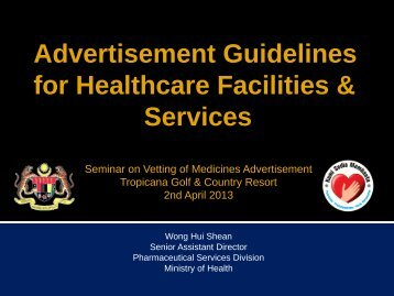 Advertisement Guidelines for Healthcare Facilities & Services