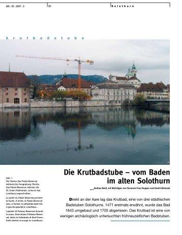 Die Krutbadstube – vom Baden im alten Solothurn _Andrea Nold ...