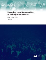 Engaging Local Communities in Immigration Matters - Public Policy ...