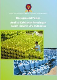 Background Paper Analisis Kebijakan Persaingan dalan ... - KPPU