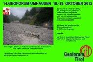 14.GEOFORUM UMHAUSEN 18.-19. OKTOBER 2012
