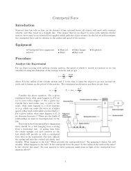 Centripetal Force - Elvis.rowan.edu