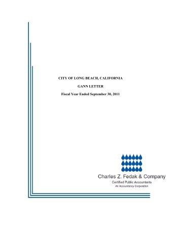 Gann Letter 2011 Report - Long Beach City Auditor