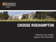 Professor Lynn Dobbs Deputy Vice-Chancellor - University of ...