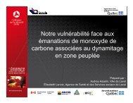 Présentation au colloque de la sécurité civile 2012 - Ministère de la ...