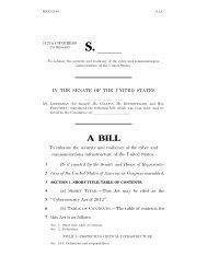 The Cybersecurity Act of 2012, S. 2105 - U.S. Senate Homeland ...
