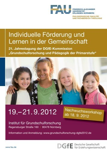 Flyer DGfE Tagung 2012 - Institut für Grundschulforschung ...