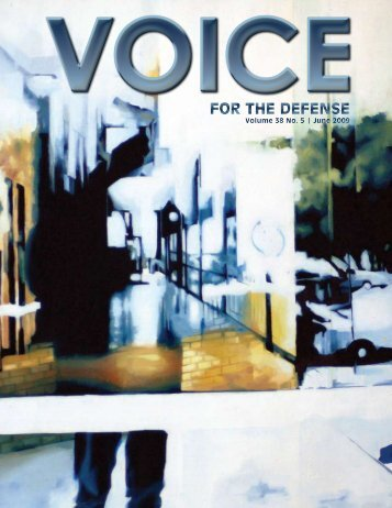 of TCDLA - Voice For The Defense Online