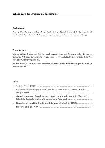 Urheberrecht für Lehrende an Hochschulen - DiZ