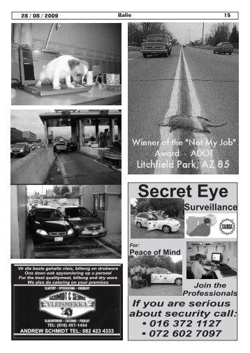 Secret Eye - Balie