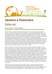 Slow Food e Terra Madre